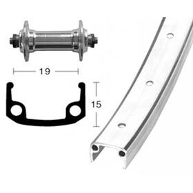 Bike-Parts Voorwiel 28x1.3/8 aluminium naaf 36L, silver